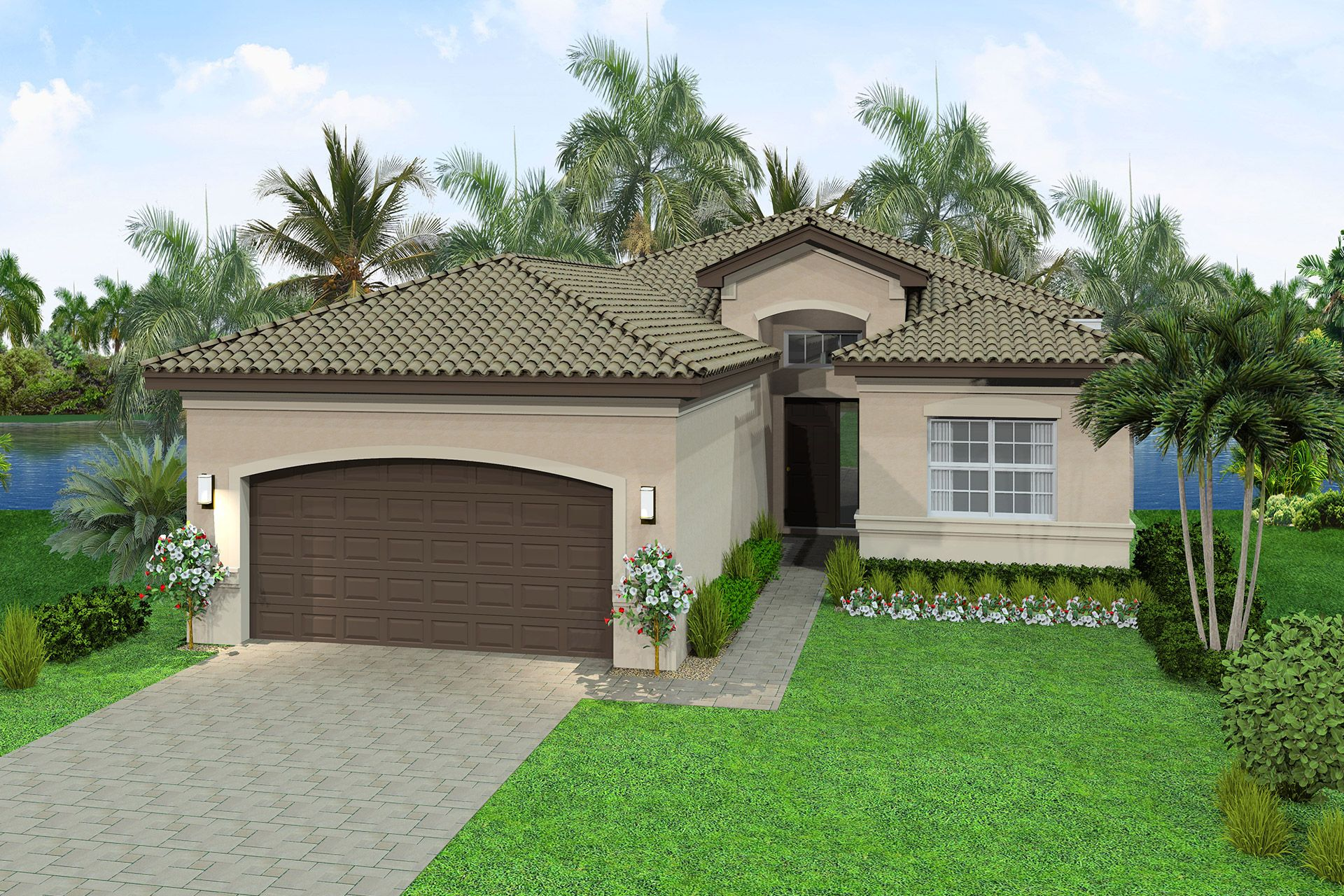 Exterior featured in the Aruba By GL Homes in Palm Beach County, FL