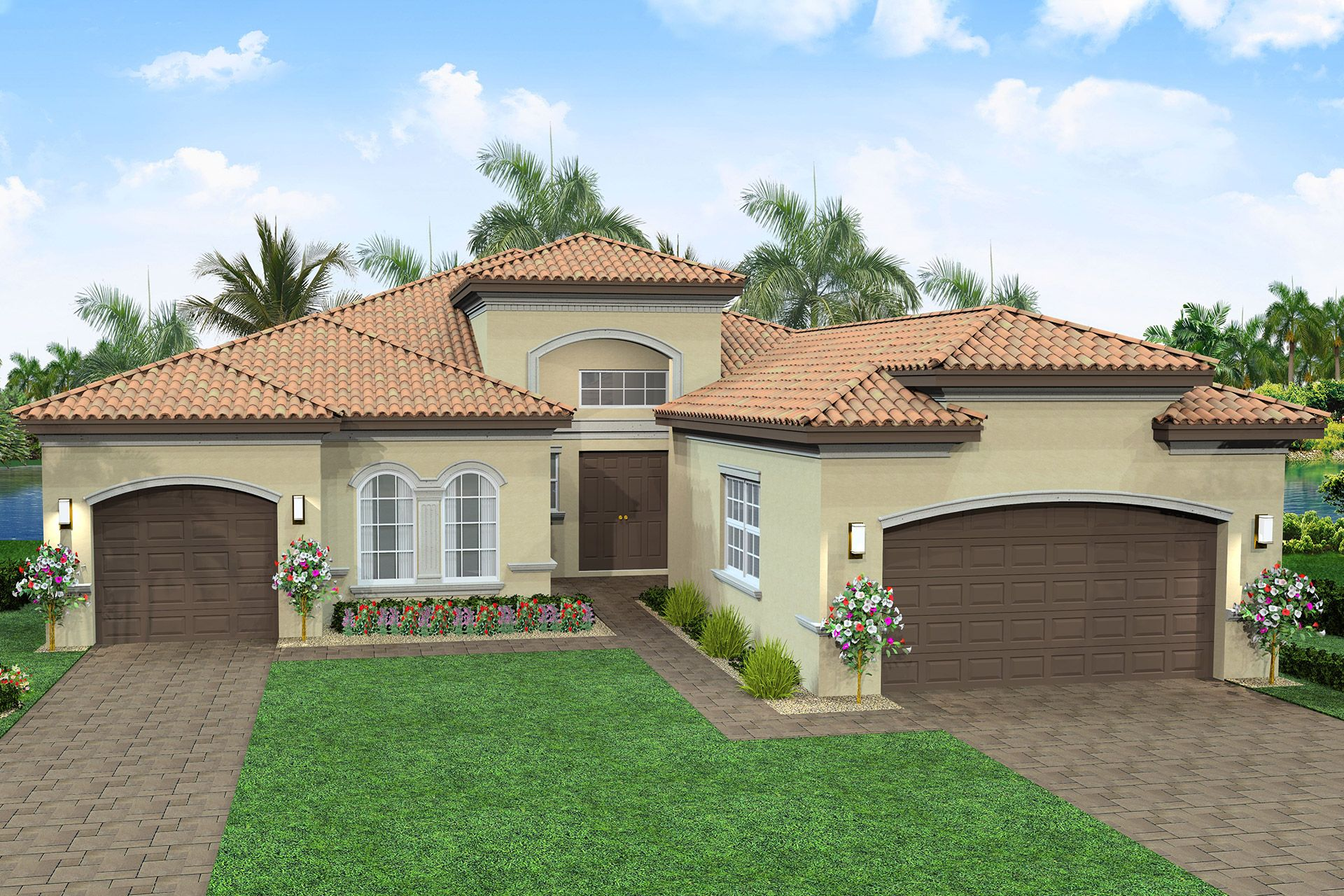 Exterior featured in the Napa By GL Homes in Palm Beach County, FL