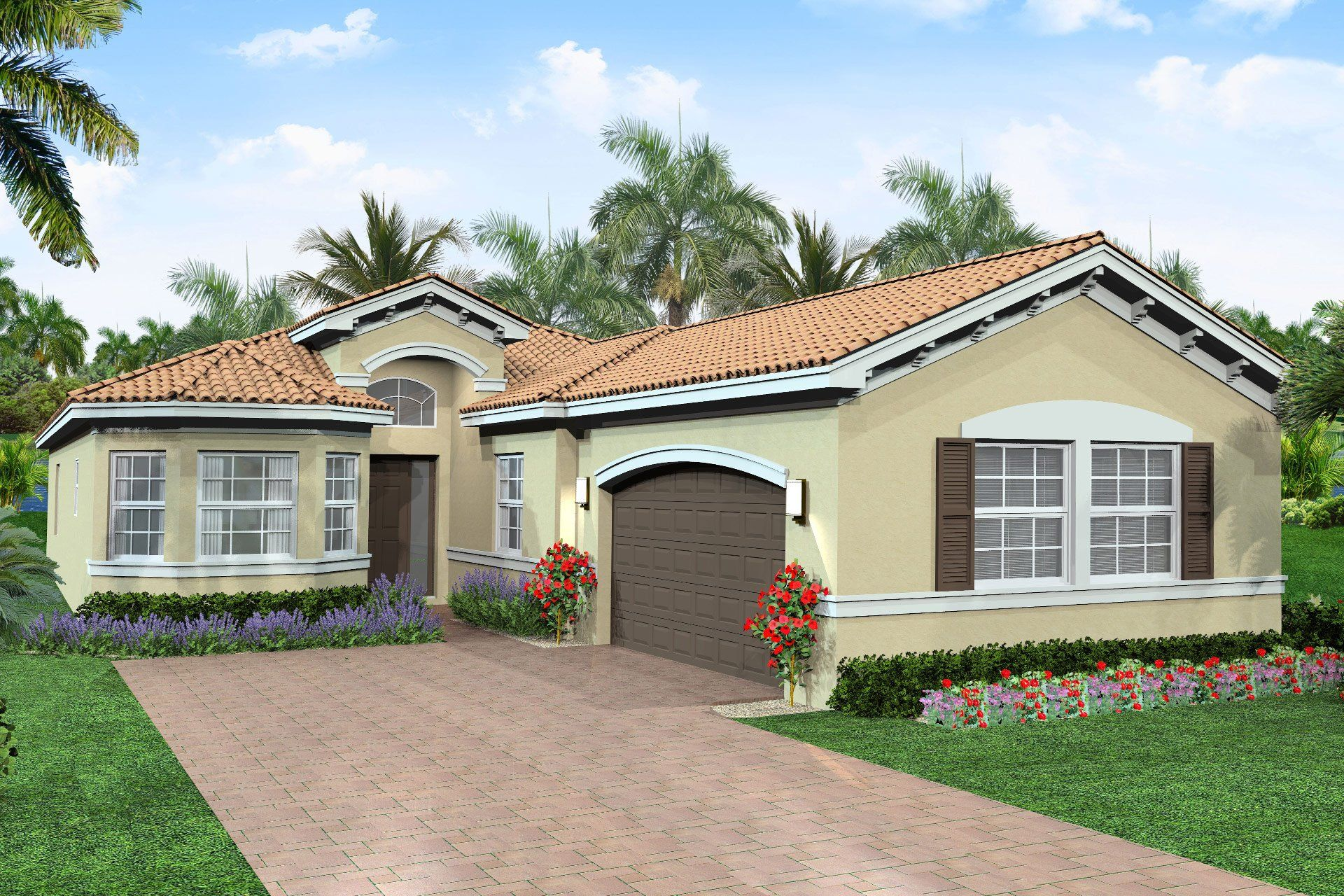 Exterior featured in the Vienna By GL Homes in Palm Beach County, FL