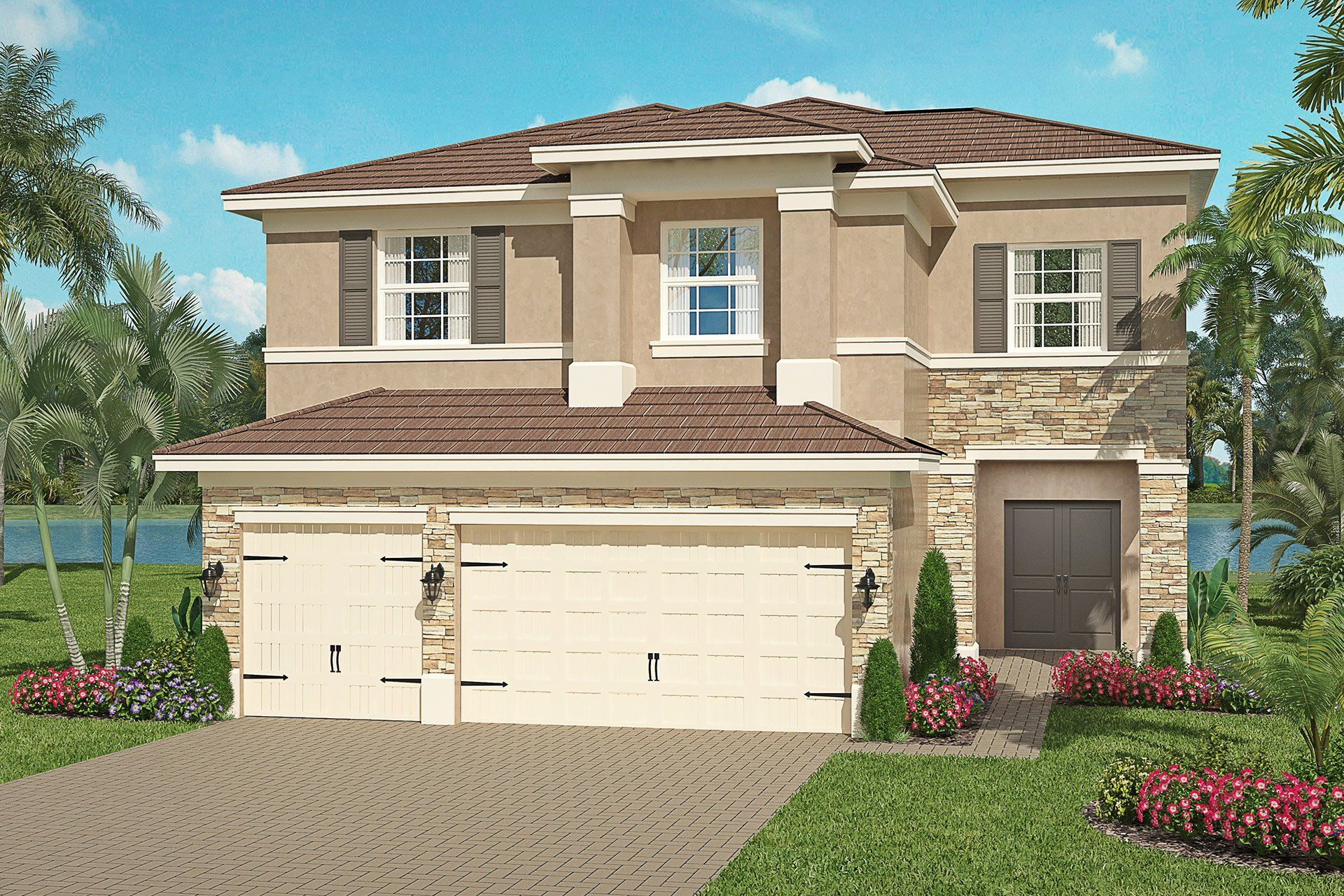 Exterior featured in the Cypress By GL Homes in Tampa-St. Petersburg, FL