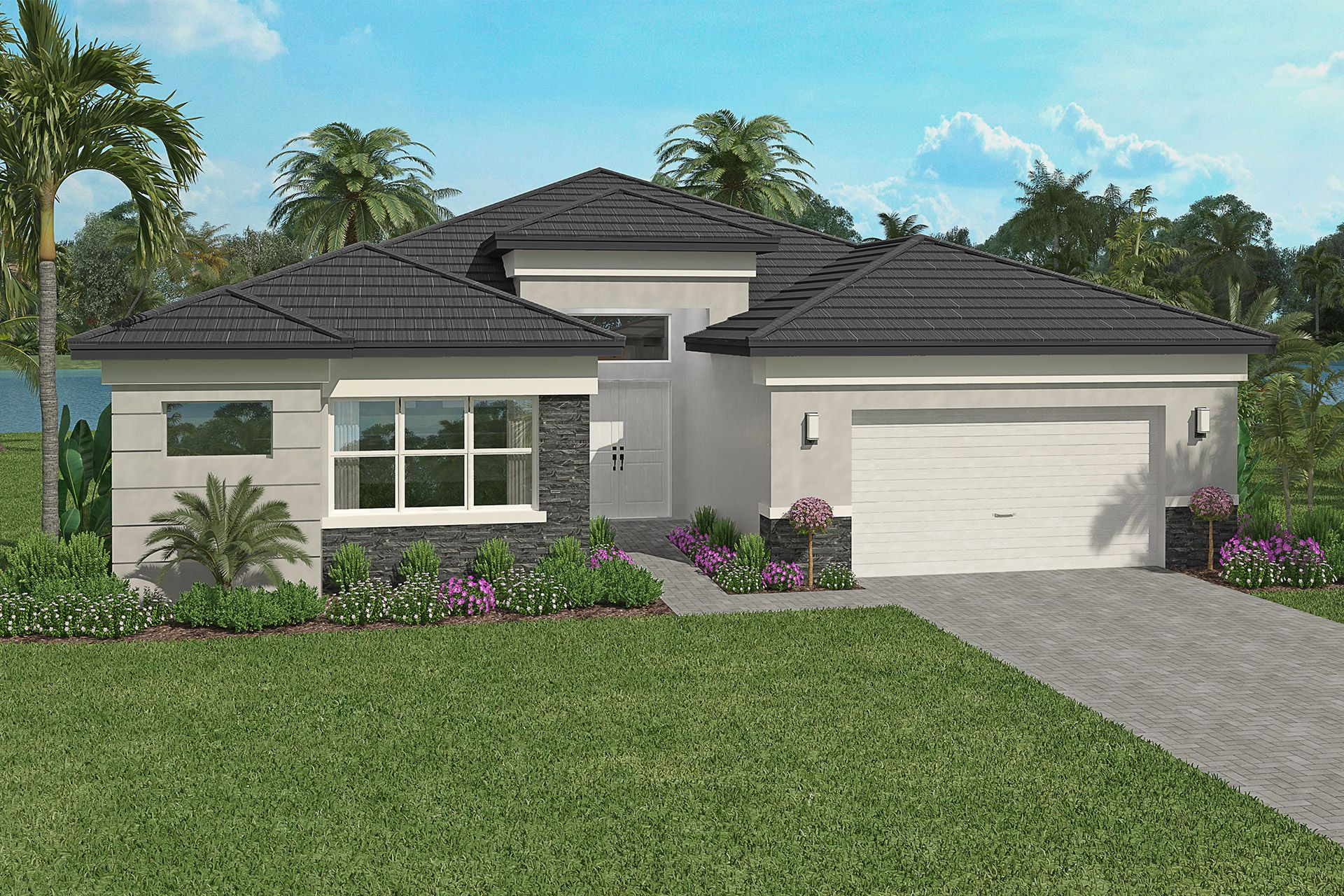 Exterior featured in the Oceana By GL Homes in Naples, FL
