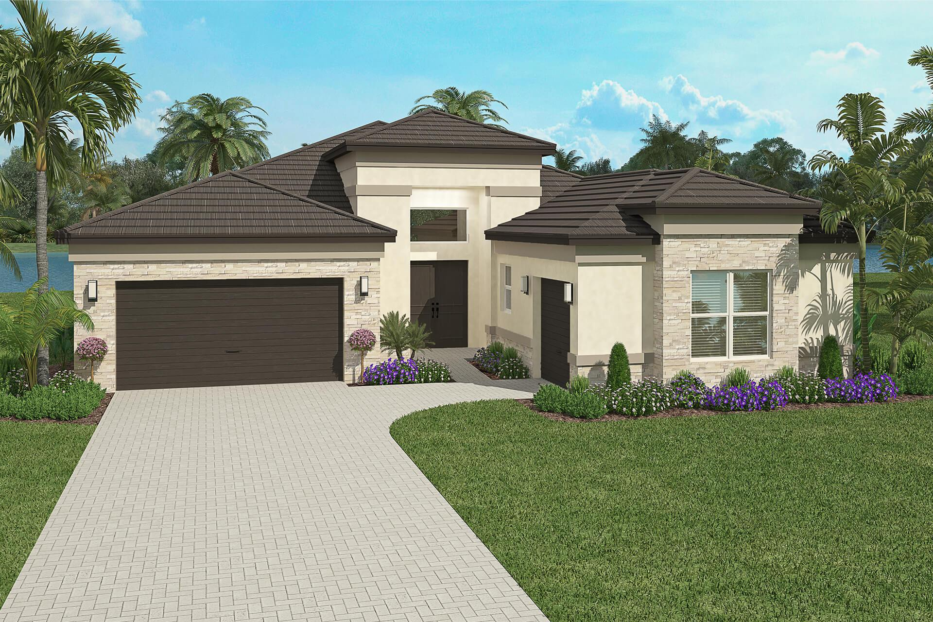 Exterior featured in the Bonita By GL Homes in Naples, FL