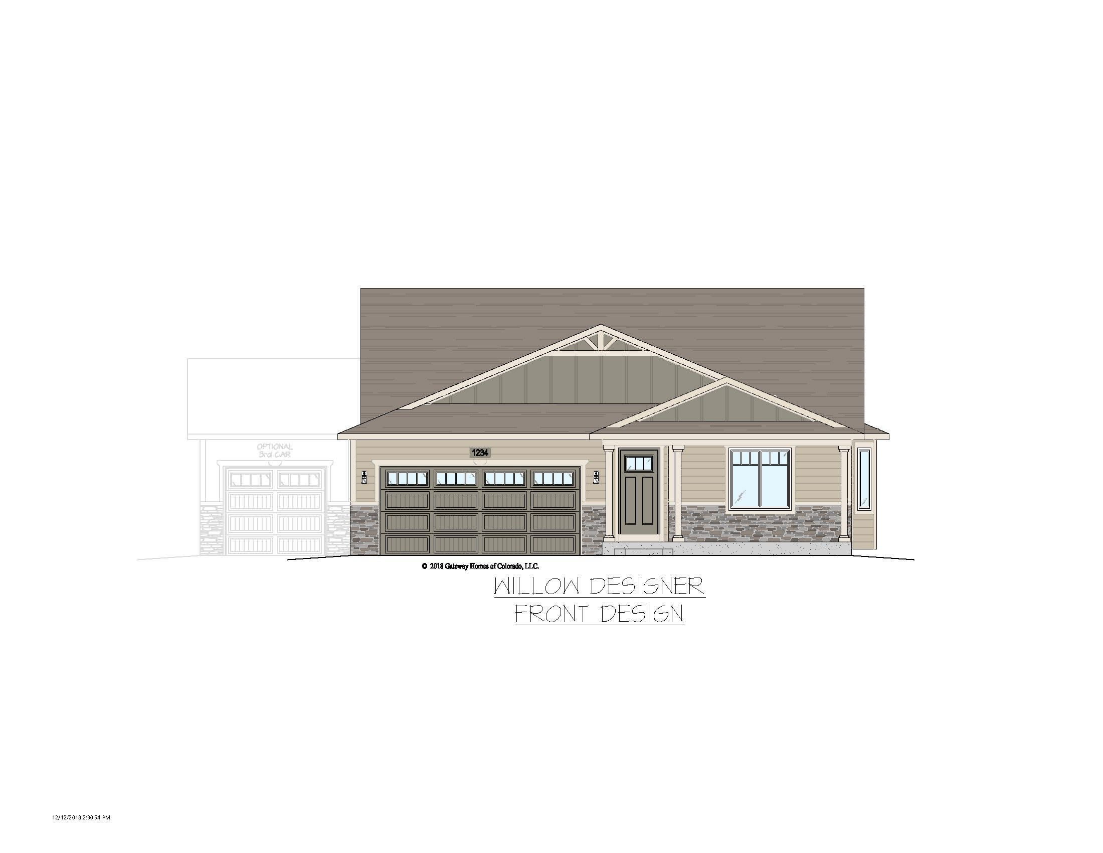 Exterior featured in the Willow By Gateway Homes- WY in Cheyenne, WY