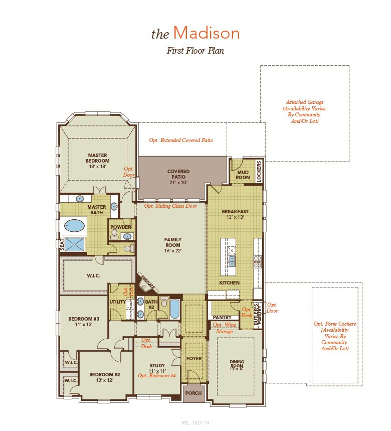 Madison Home Plan By Estate By Gehan Homes In Benders