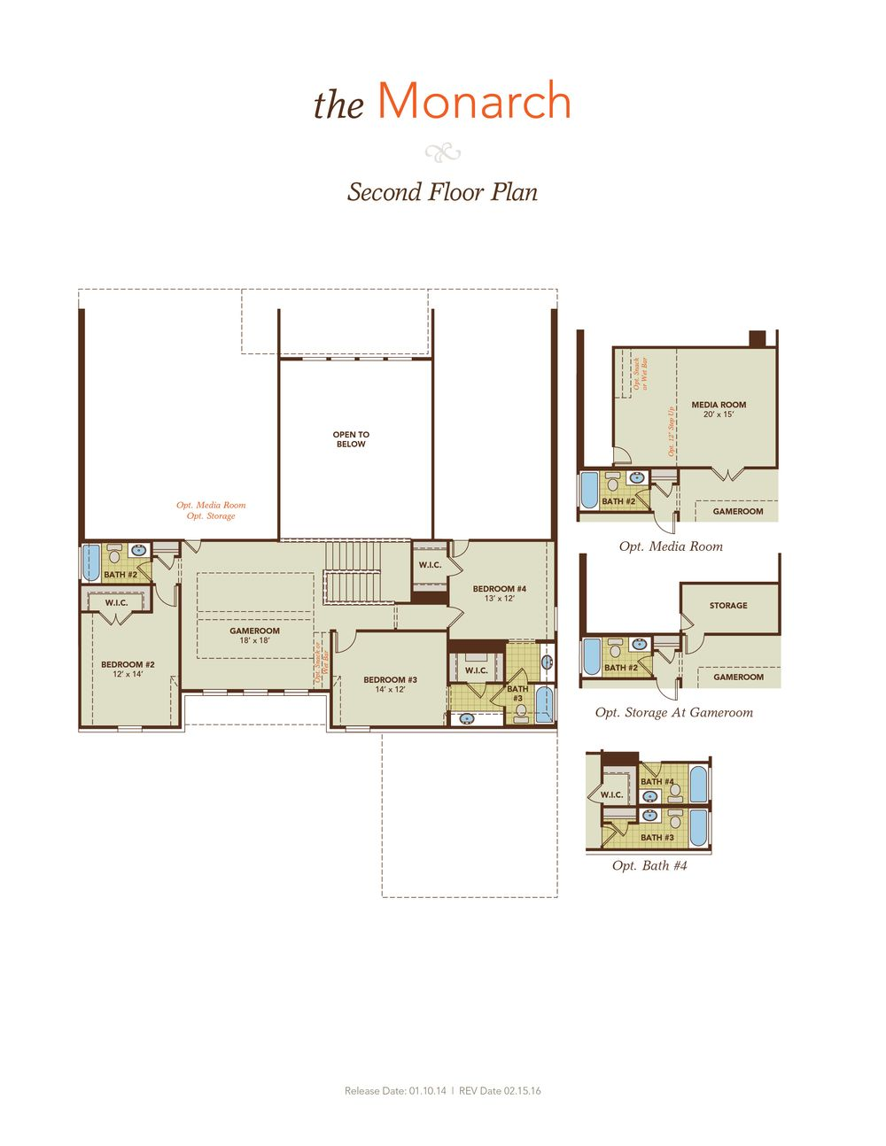 Monarch model at 2313 lamberth court for Monarch homes floor plans