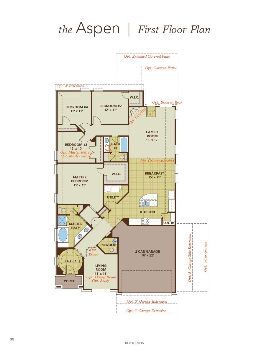 Aspen Home Plan By Gehan Homes In Devonshire