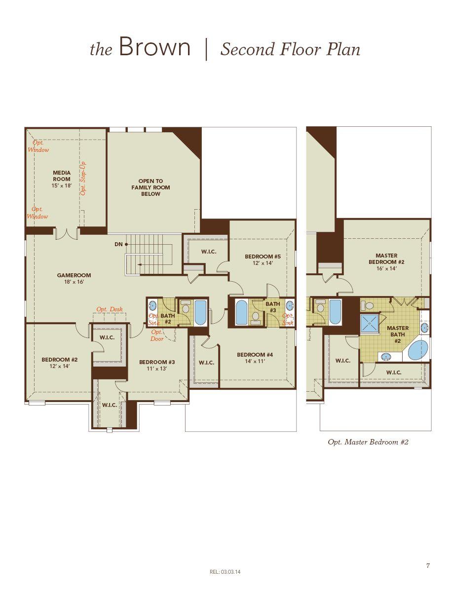 Brown Home Plan By Gehan Homes In Meadows At Buda