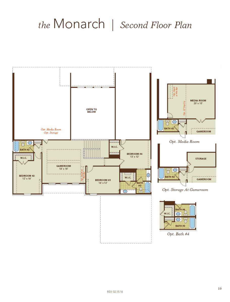 Monarch home plan by gehan homes in mason hills Monarch homes floor plans