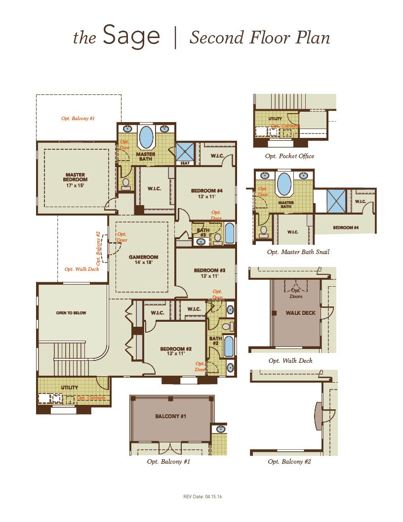 Sage home plan by gehan homes in tierra del rio hacienda for Sage floor plan