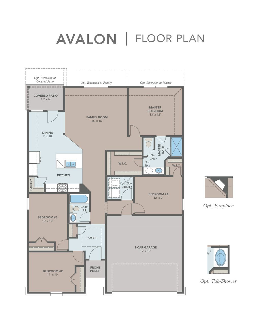 Avalon home plan by gehan homes in clements ranch for Find house floor plans