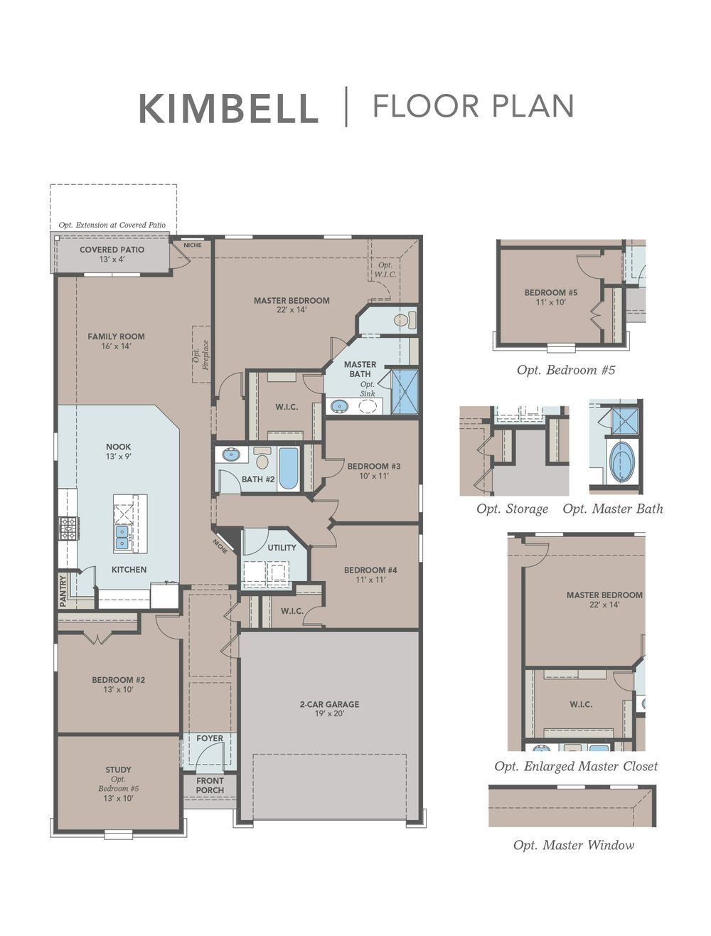 New Home Builder Floor Plans