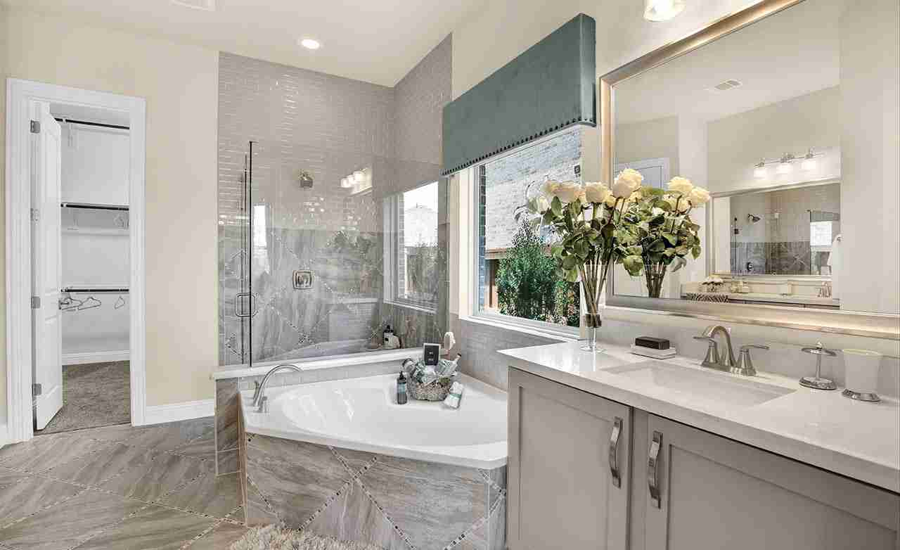 Rosewood Master Bathroom