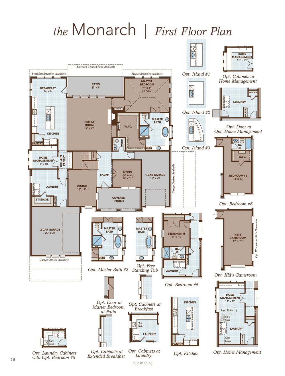 Monarch home plan by gehan homes in heath golf and yacht club for Monarch homes floor plans