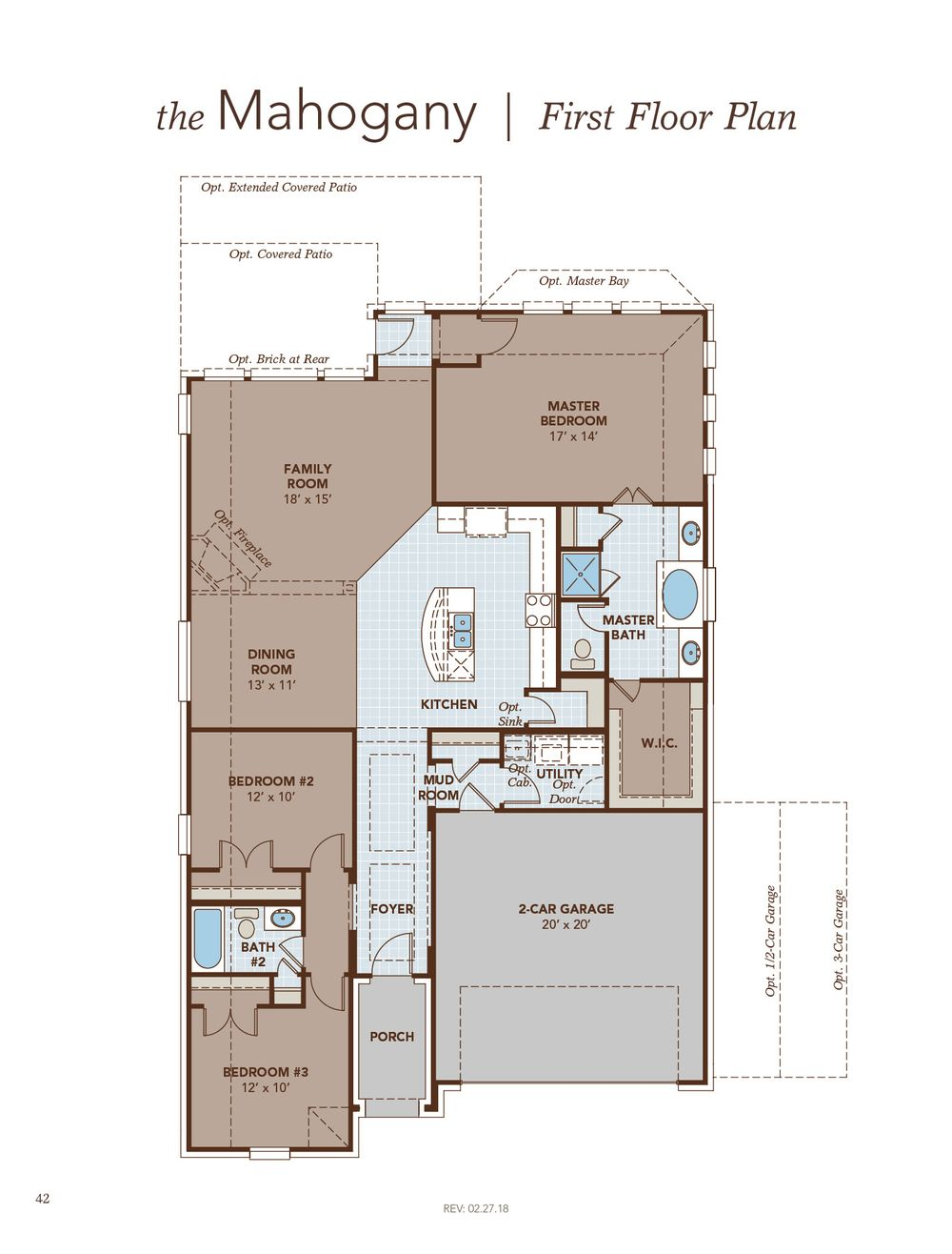Mahogany Home Plan by Gehan Homes in The Park at Blackhawk Premier – Weiss Homes Floor Plans