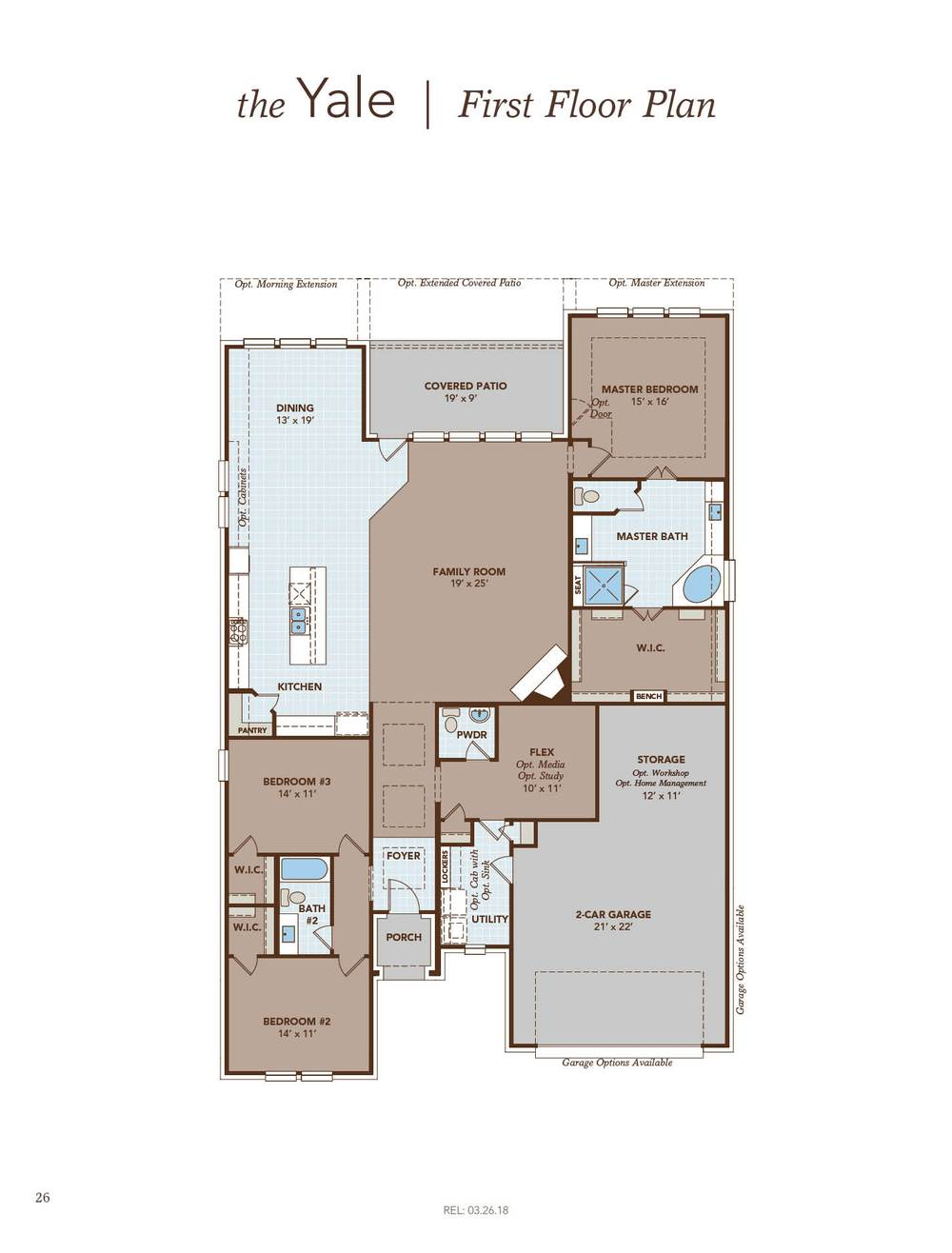 Yale Home Plan by Gehan Homes in The Park at Blackhawk Classic – Weiss Homes Floor Plans