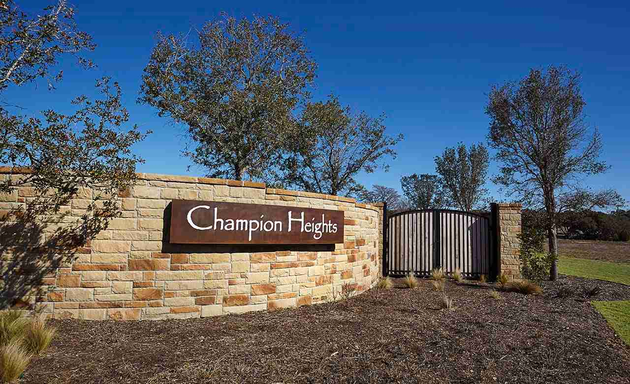 Champion Heights Community Sign