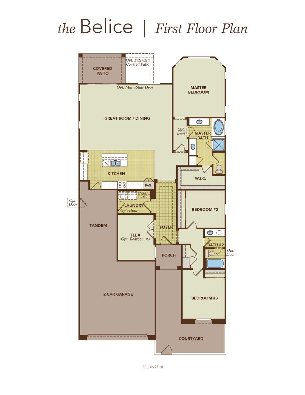 Belice Garage Left First Floor Plan