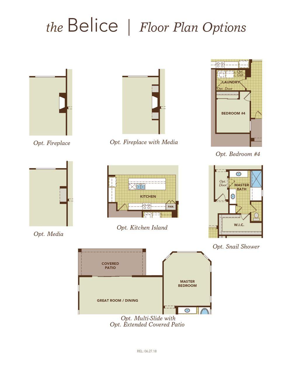 Belice Garage Left Floor Plan Options