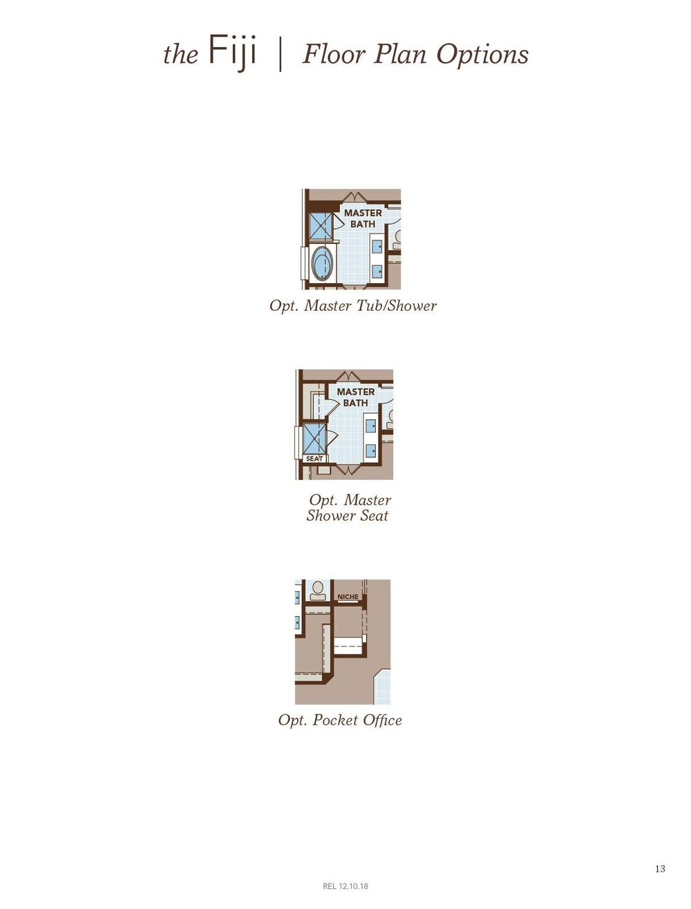 Fiji Floor Plan Options