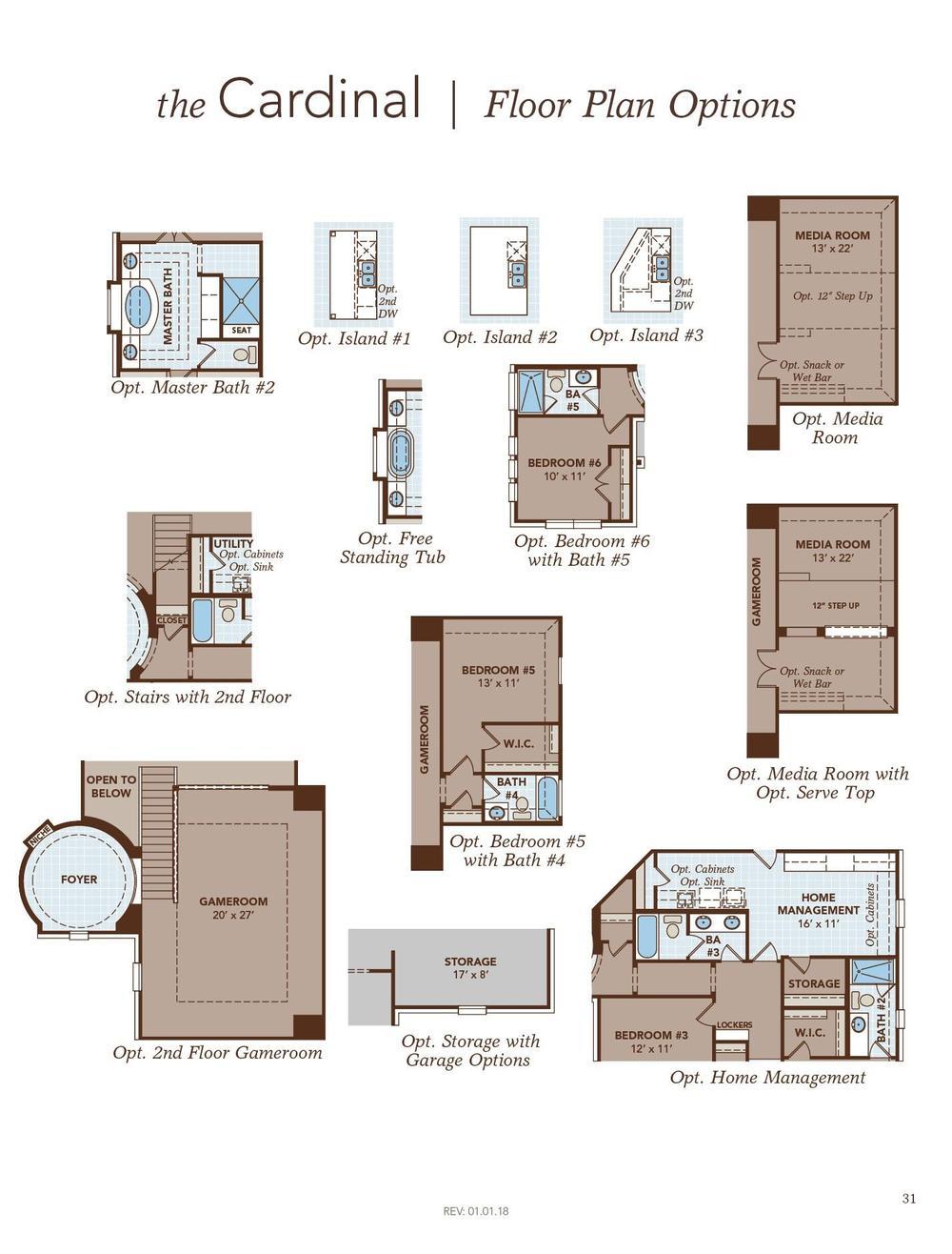 Cardinal Floor Plan Options