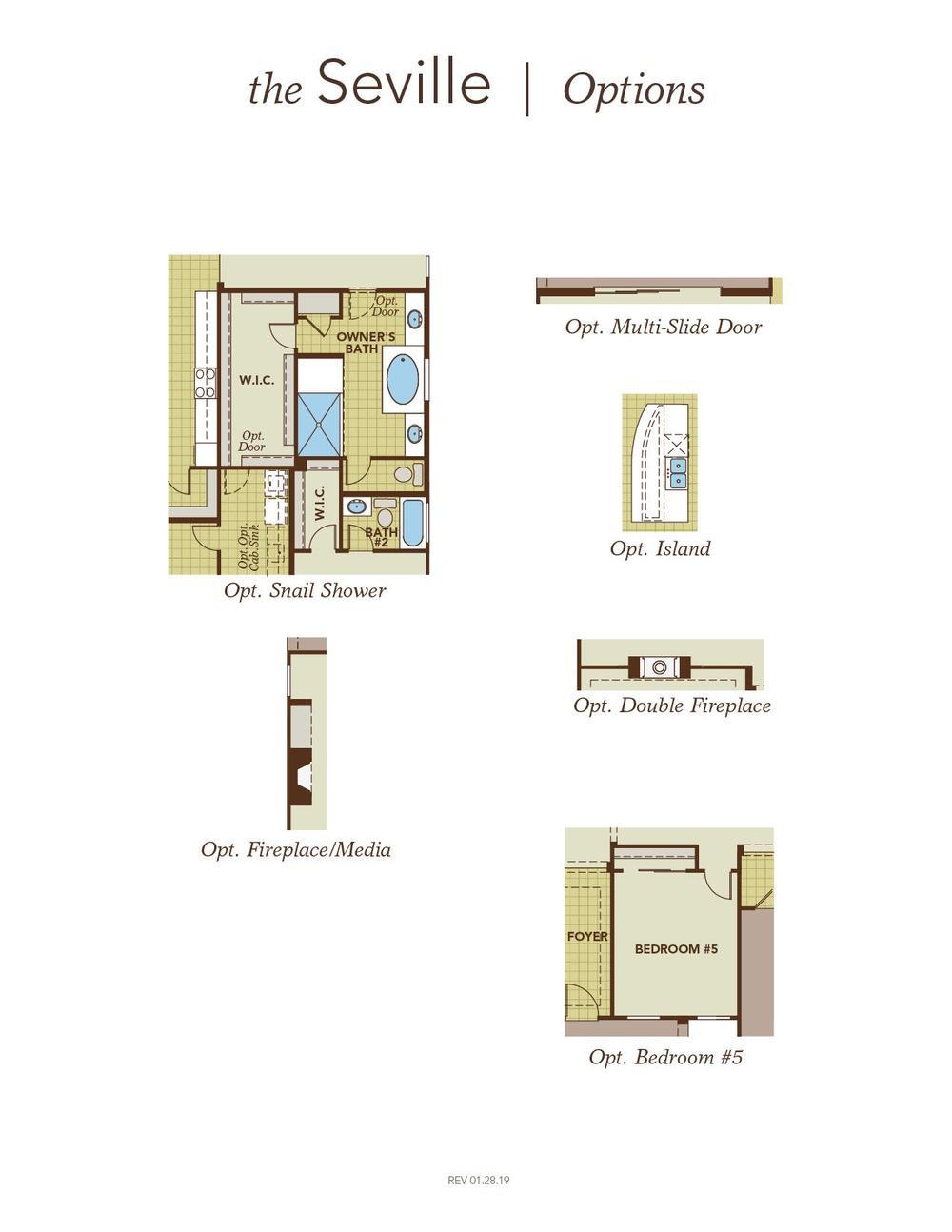 Seville - Floor Plan Options