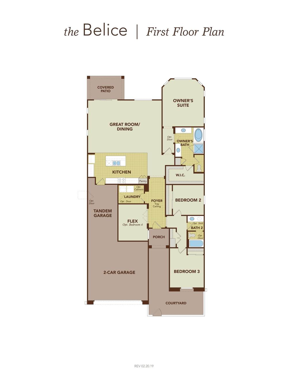 Belice First Floor Plan