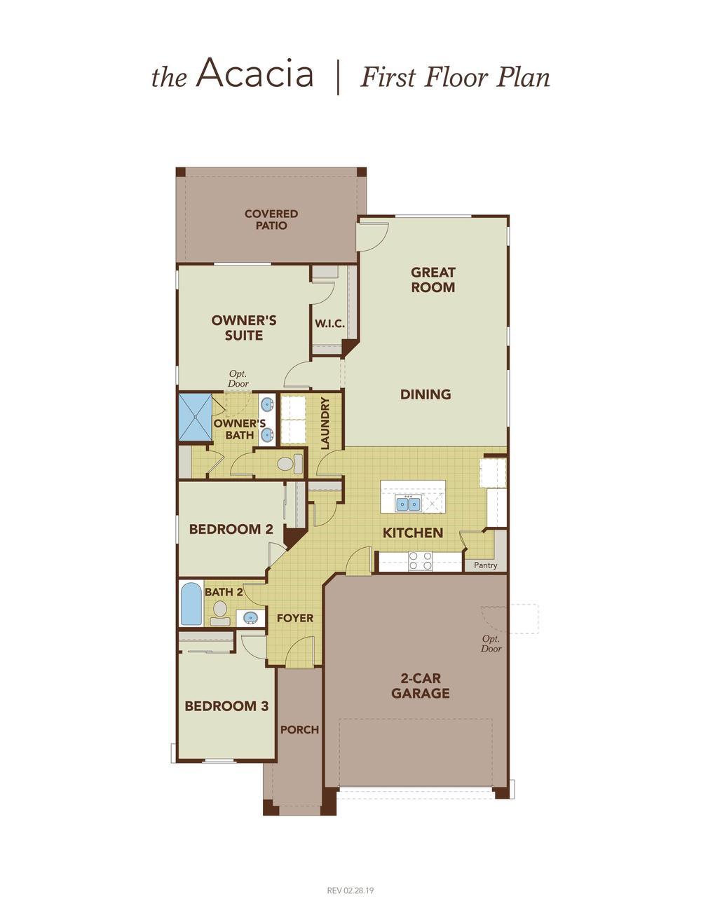 Acacia First Floor Plan