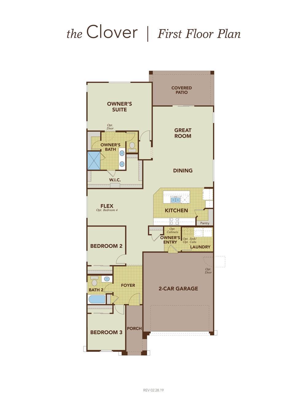 Clover First Floor Plan