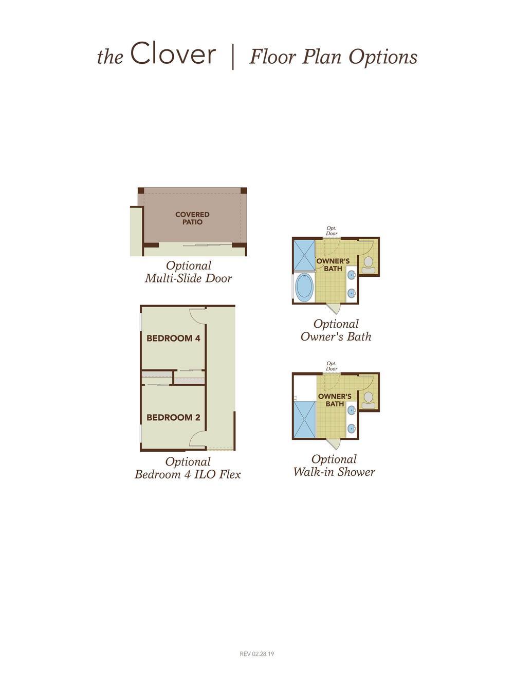 Clover Floor Plan Options