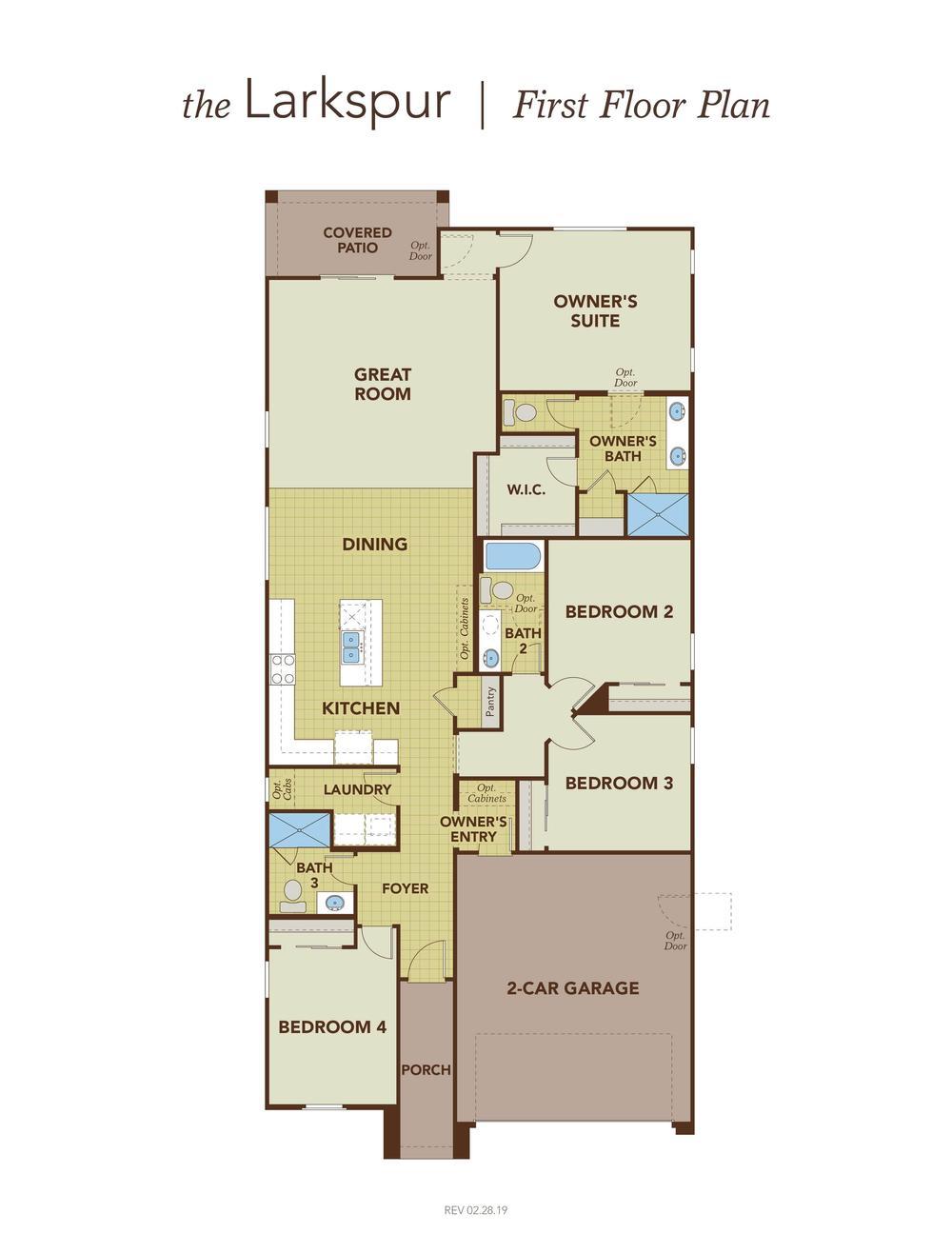 Larkspur First Floor Plan