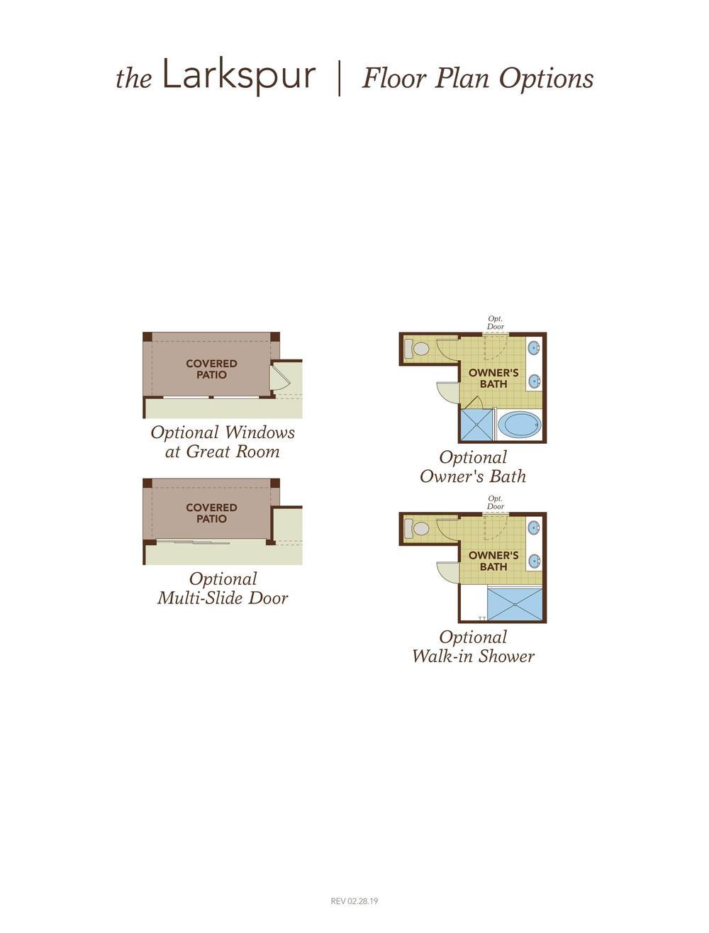 Larkspur Floor Plan Options