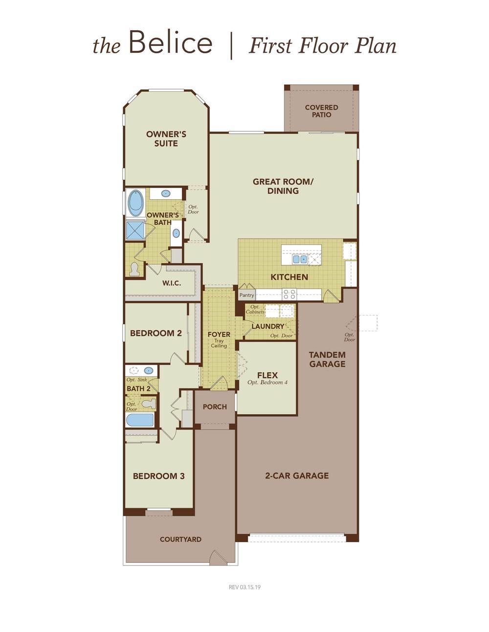 Belice Garage Right First Floor Plan