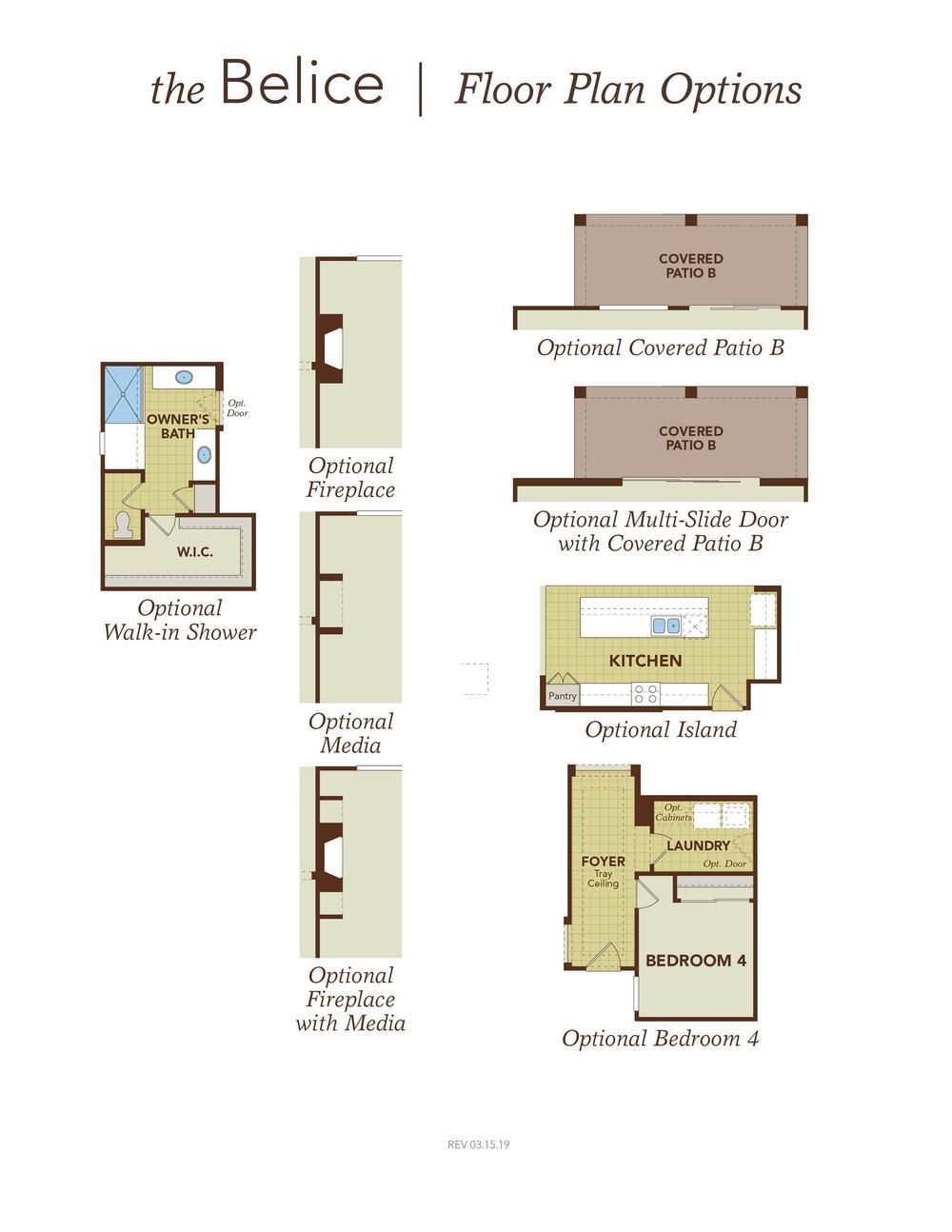 Belice Garage Right Floor Plan Options