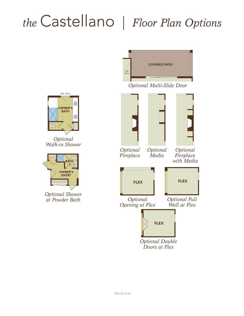 Castellano Floor Plan Options