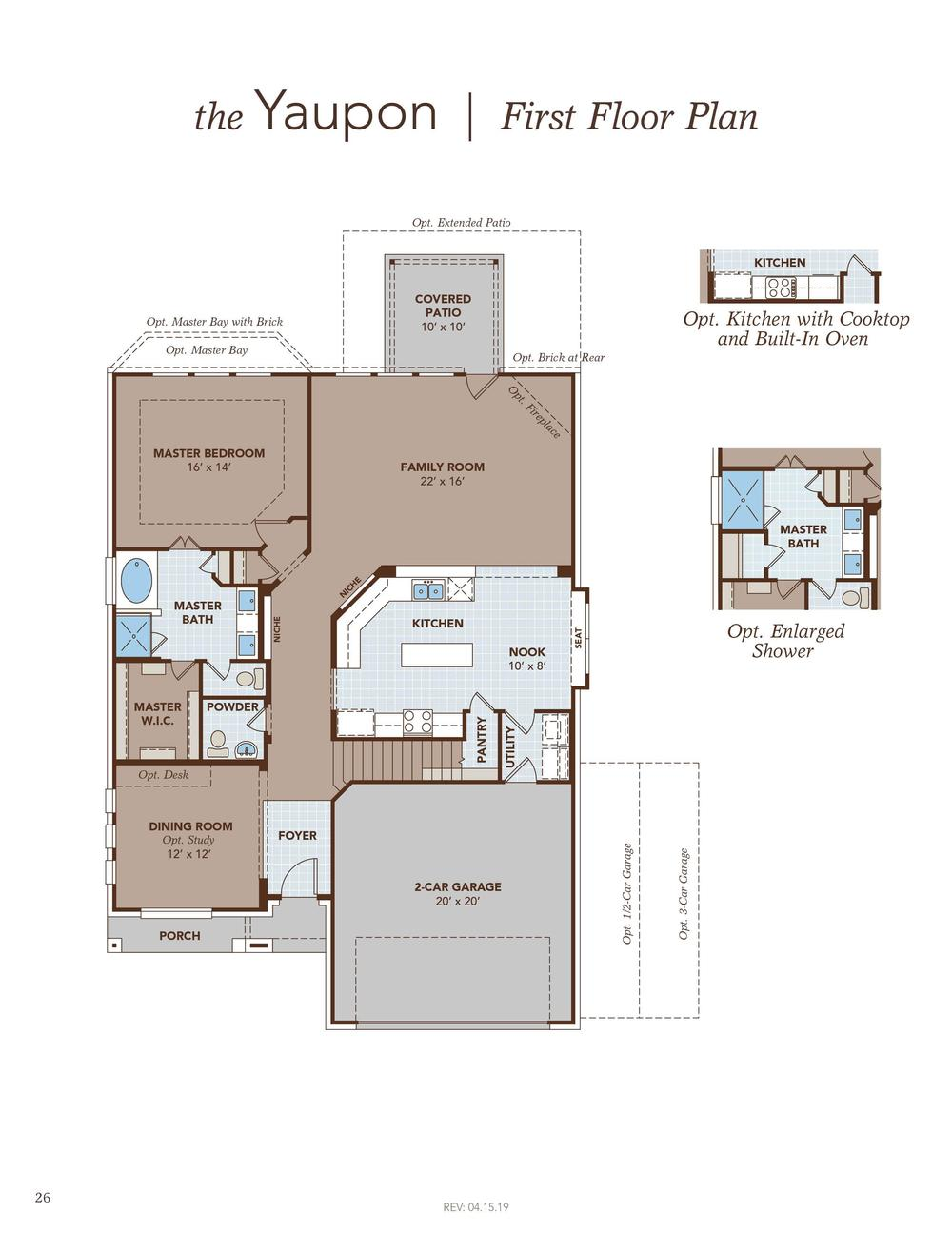 Yaupon First Floor Plan
