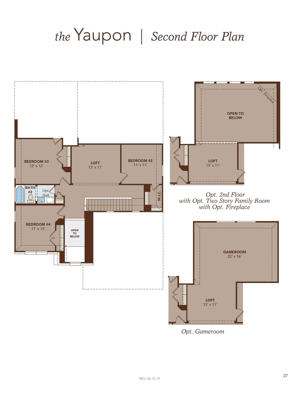 Yaupon Second Floor Plan