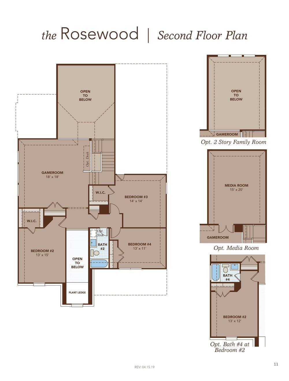 Rosewood Second Floor Plan