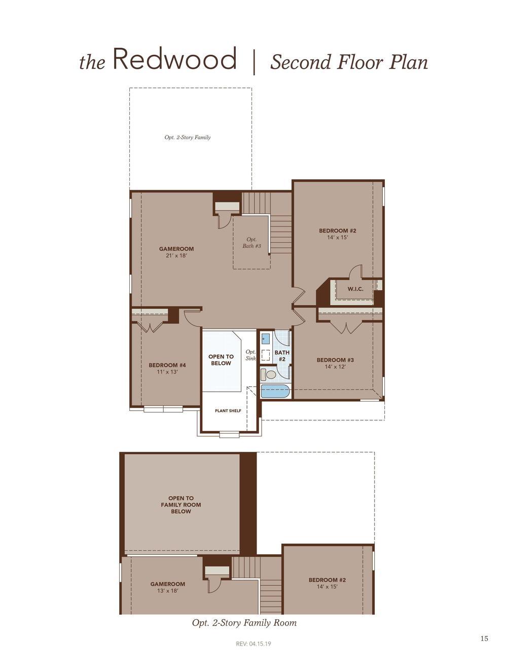 Redwood Second Floor Plan