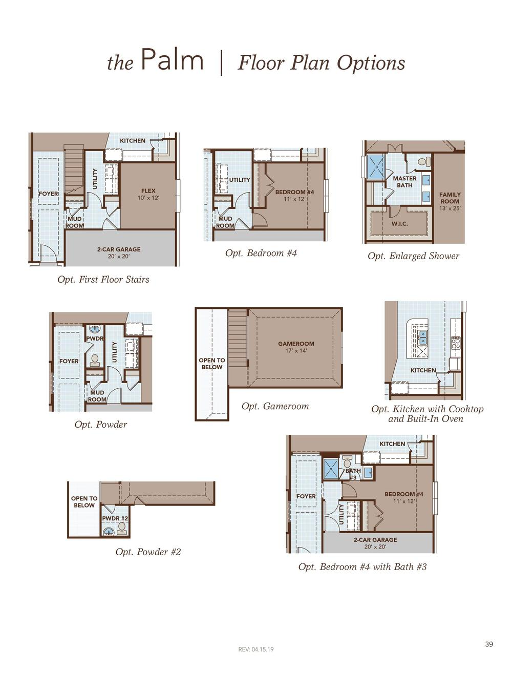 Palm Floor Plan Options