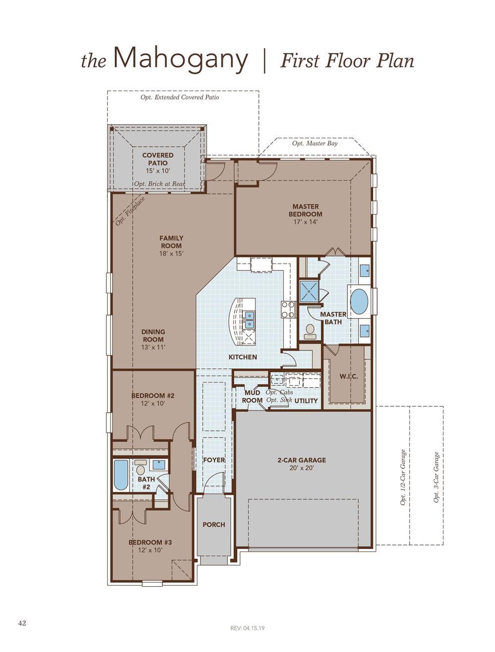 Mahogany Floor Plan