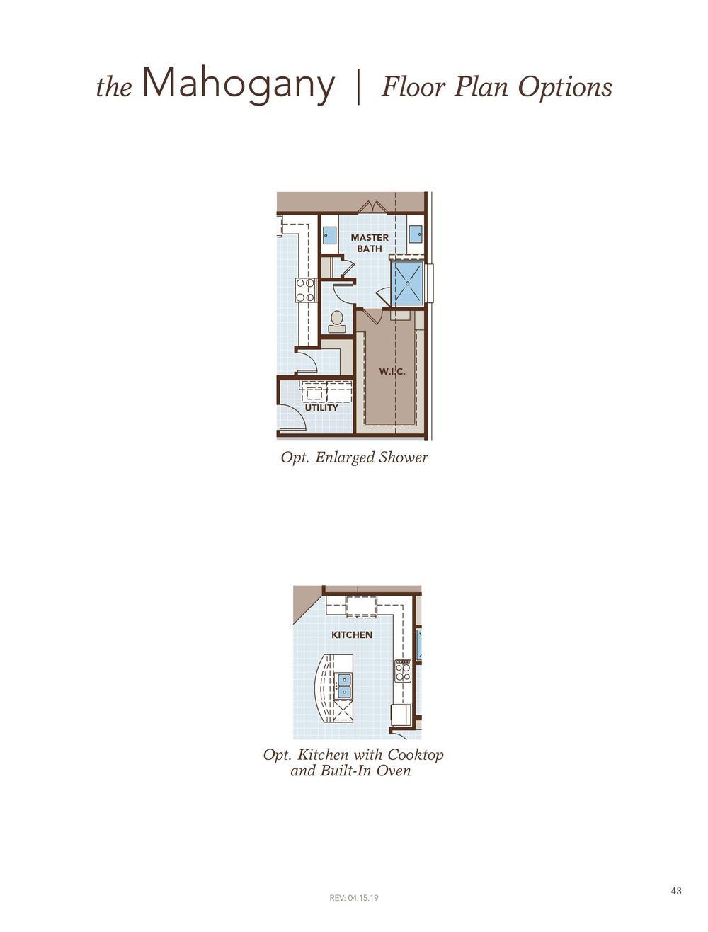 Mahogany Floor Plan Options