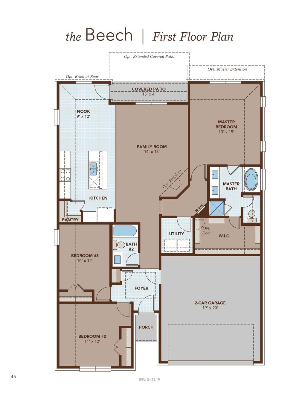 Beech First Floor Plan