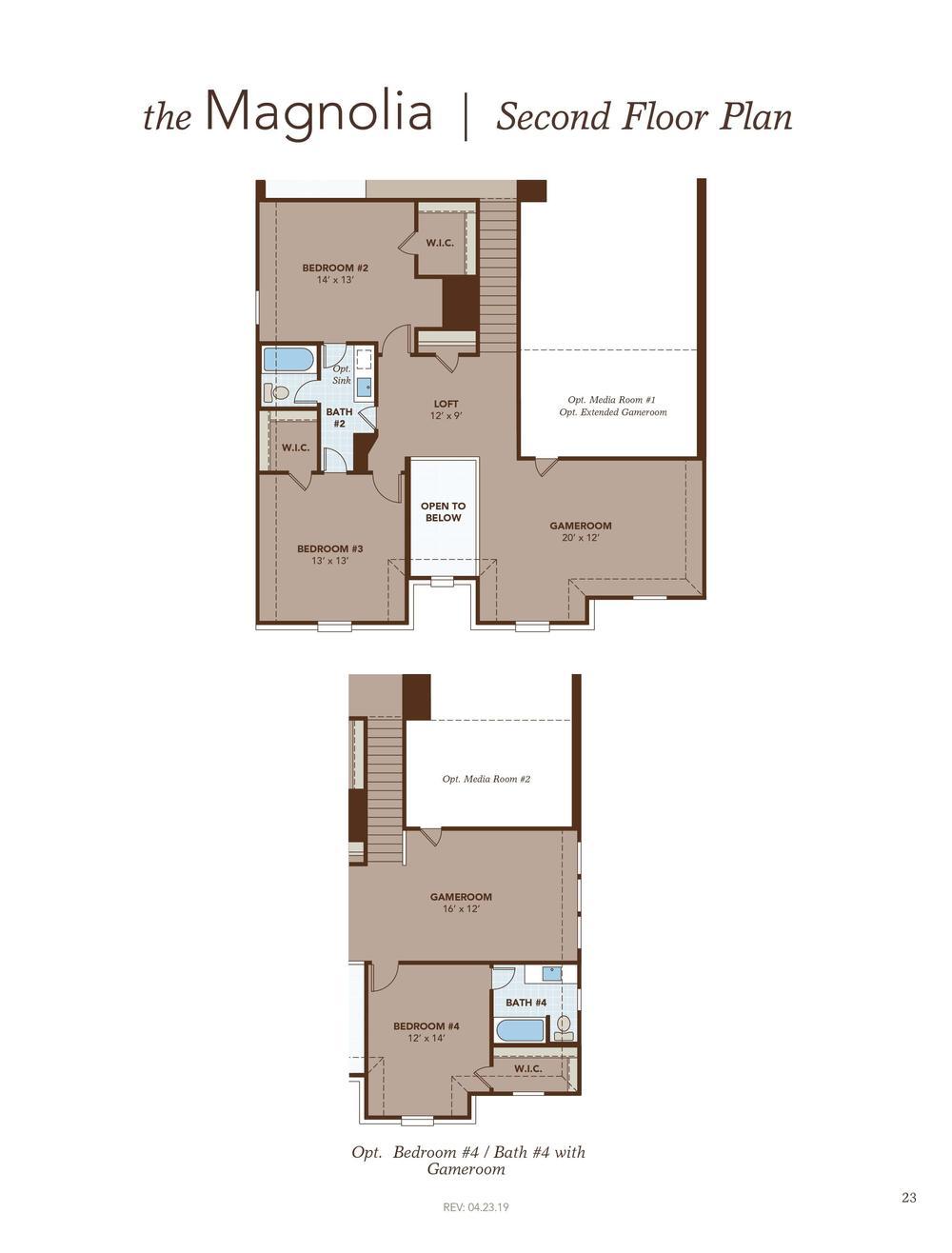Magnolia Second Floor Plan