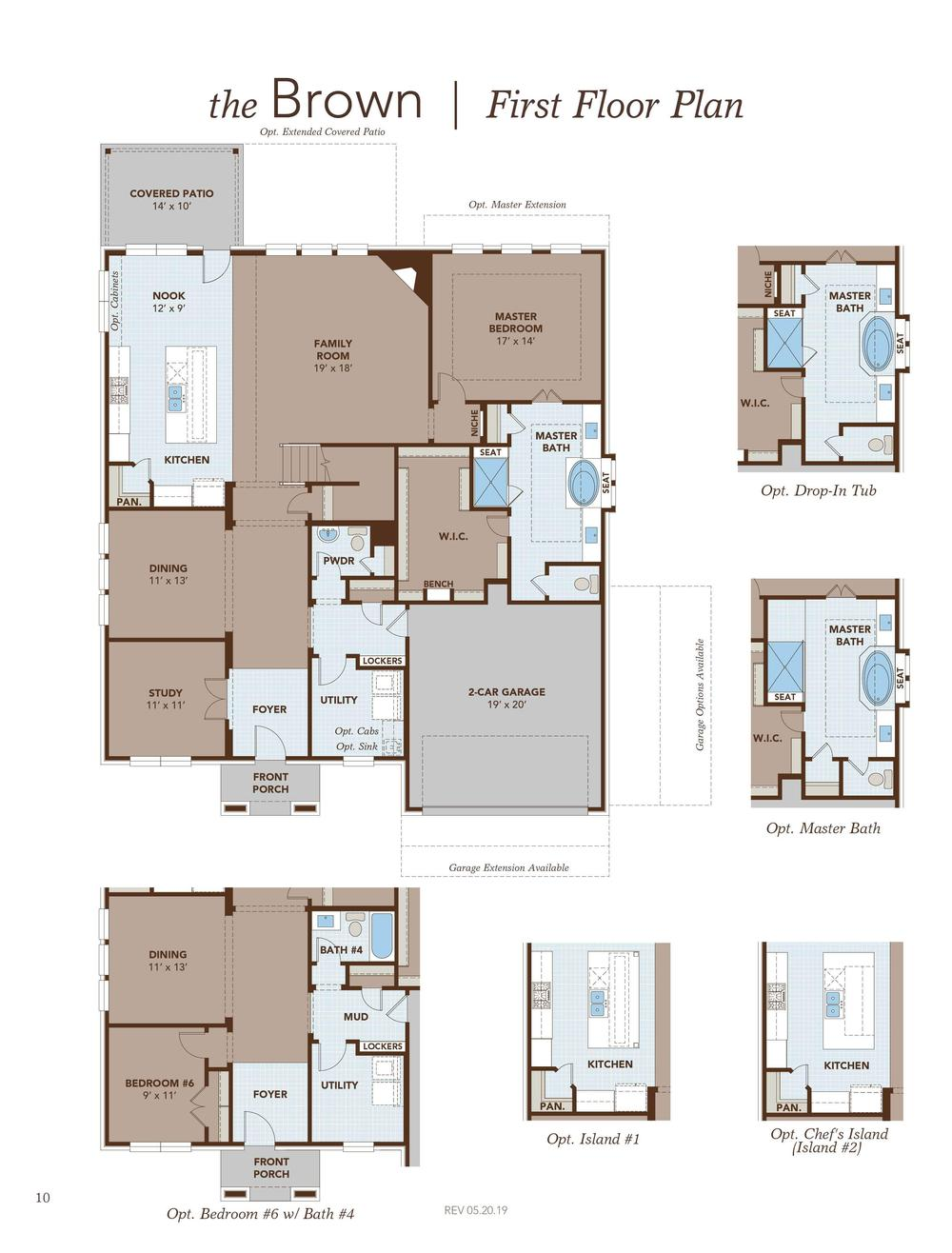 Brown Home Plan By Gehan Homes In Carmel