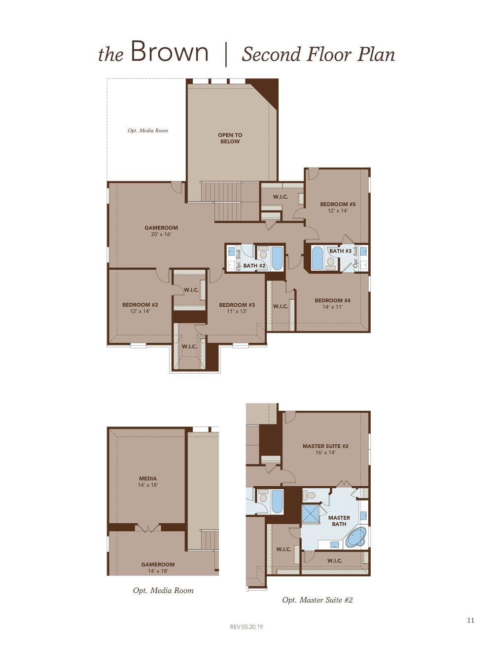 Brown Second Floor Plan