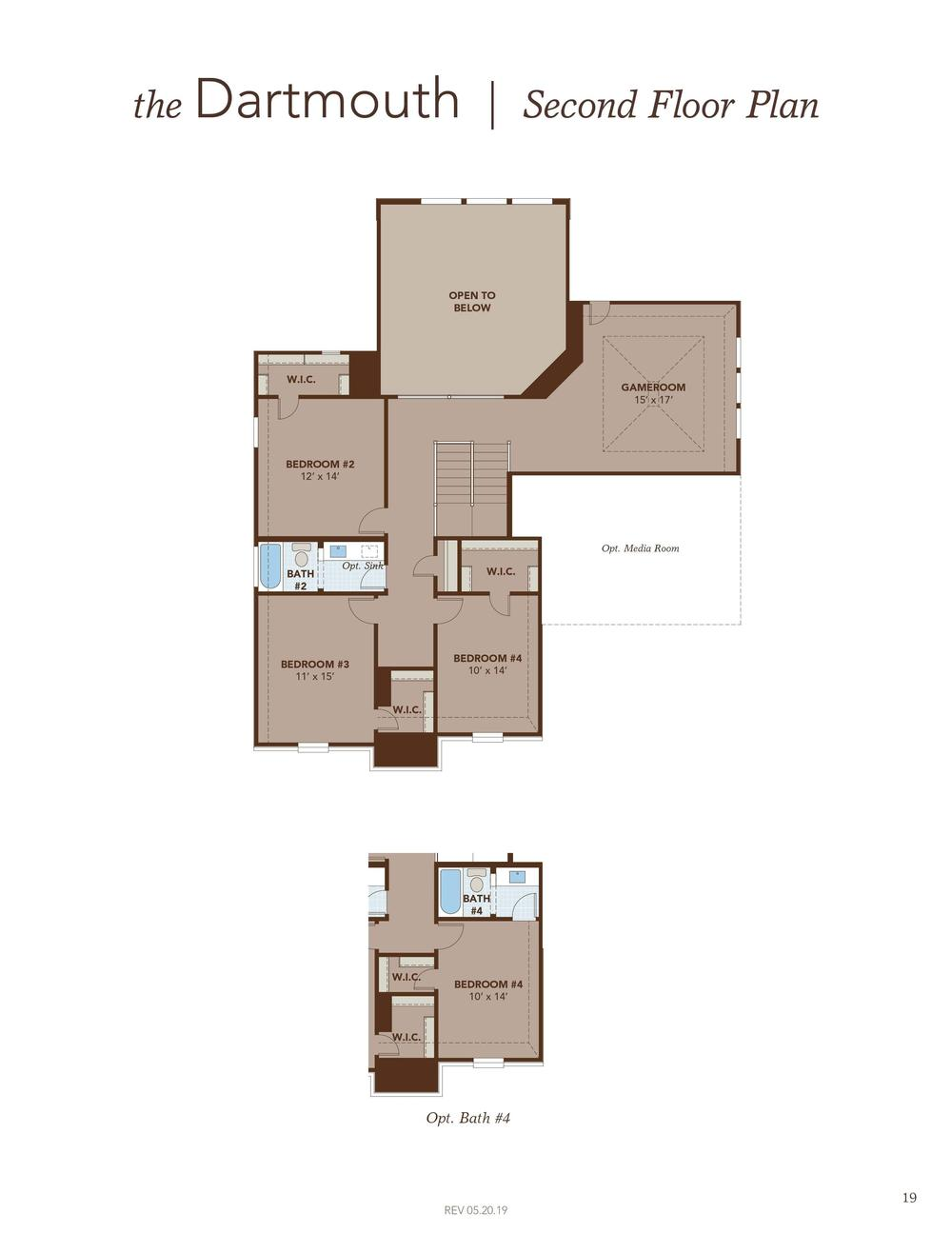 Dartmouth Second Floor Plan