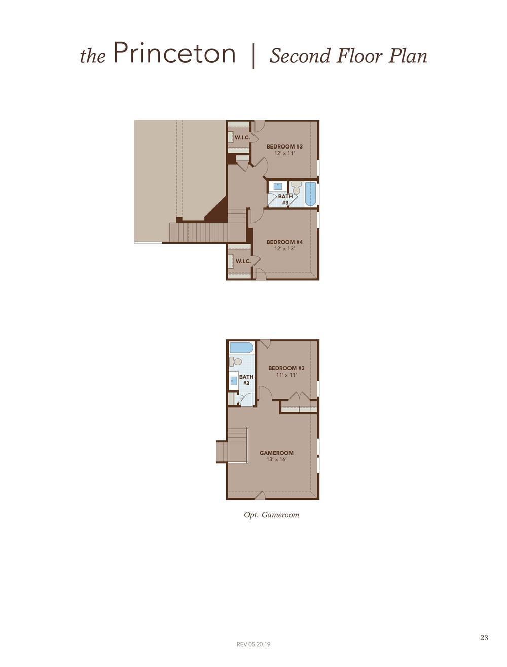 Princeton Second Floor Plan