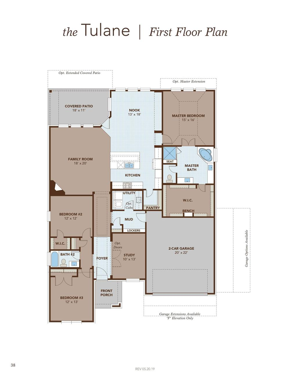 Tulane First Floor Plan