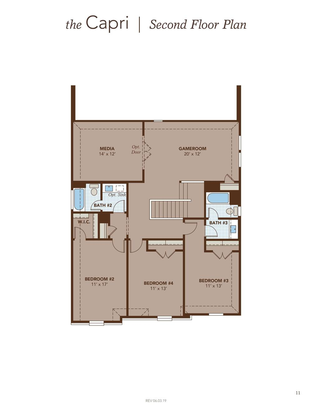 Capri Second Floor Plan