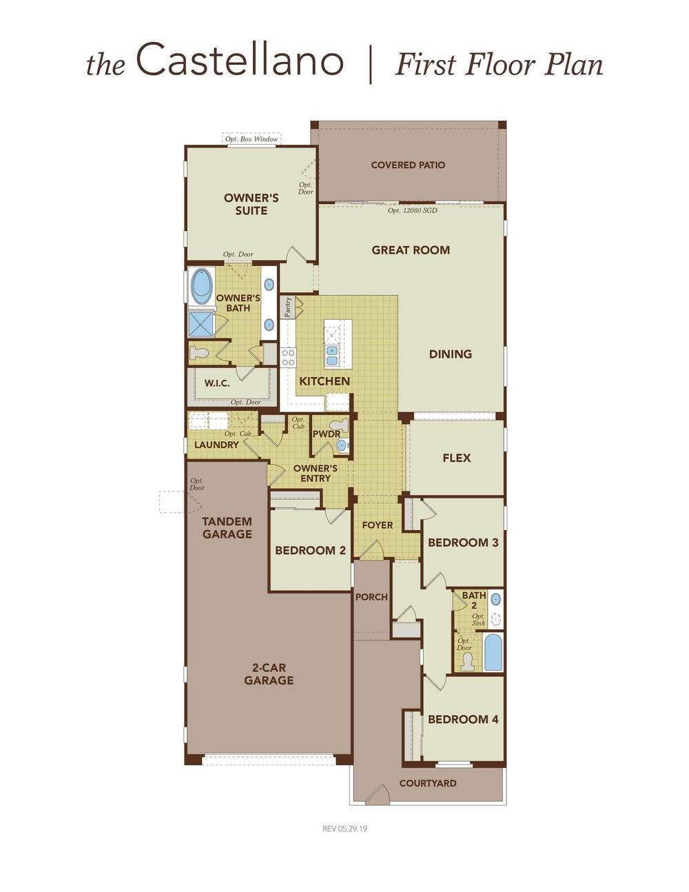 Castellano First Floor Plan